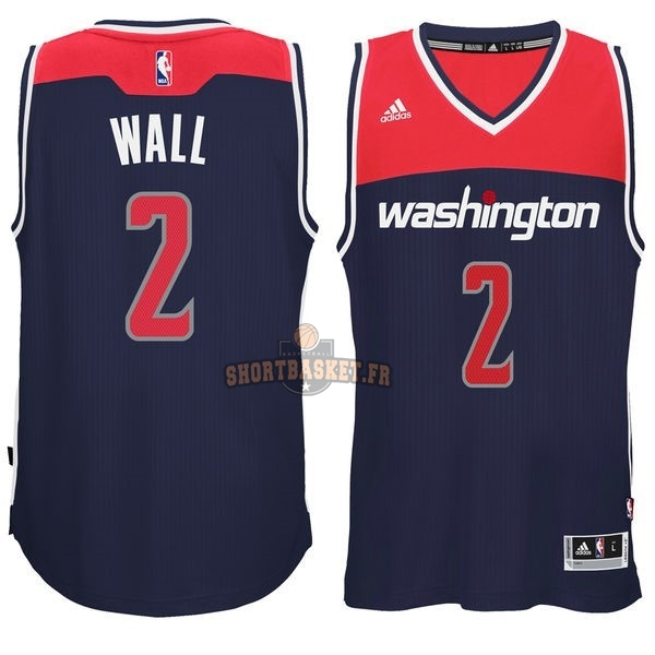 Nouveau Maillot NBA Washington Wizards NO.2 John Wall Noir pas cher