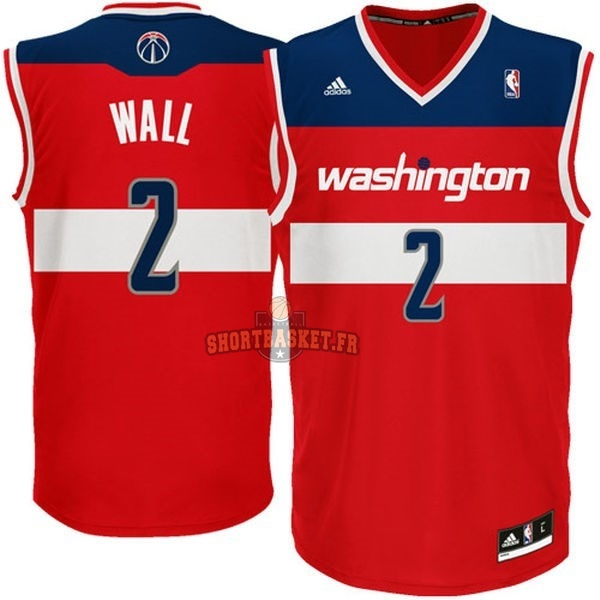 Nouveau Maillot NBA Washington Wizards NO.2 John Wall Rouge pas cher