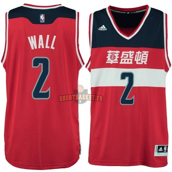 Nouveau Maillot NBA Washington Wizards NO.2 John Wall Washington Rouge pas cher