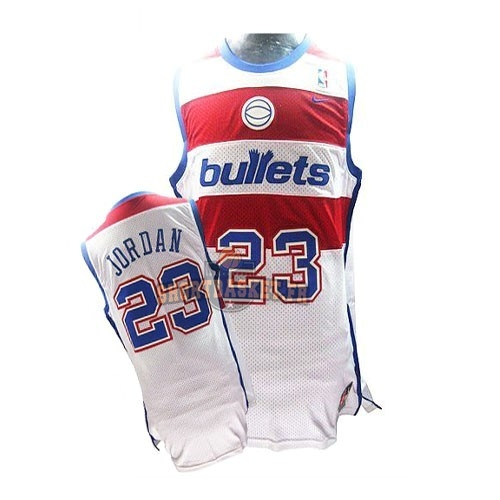 Nouveau Maillot NBA Washington Wizards NO.23 Michael Jordan Retro Blanc pas cher