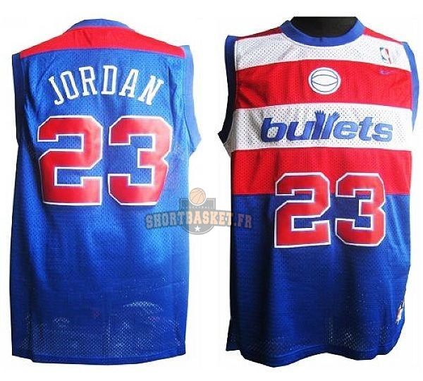 Nouveau Maillot NBA Washington Wizards NO.23 Michael Jordan Retro Bleu pas cher