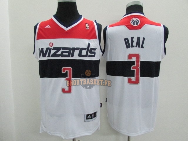 Nouveau Maillot NBA Washington Wizards NO.3 Bradley Beall Blanc pas cher