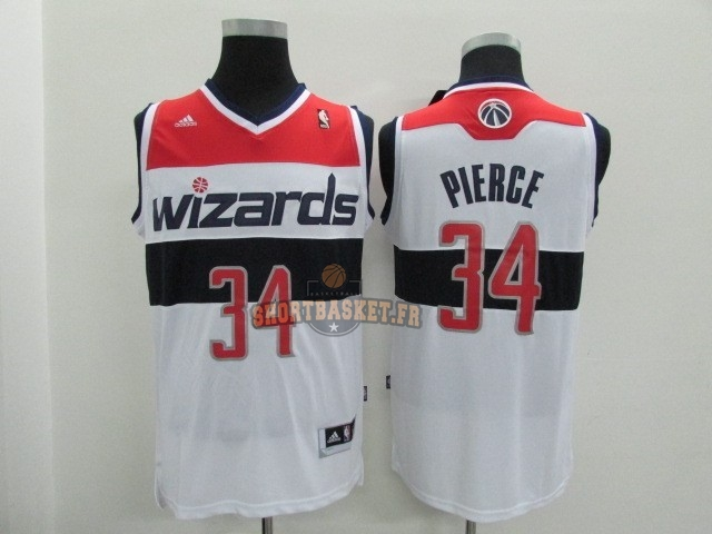 Nouveau Maillot NBA Washington Wizards NO.34 Paul Pierce Blanc pas cher