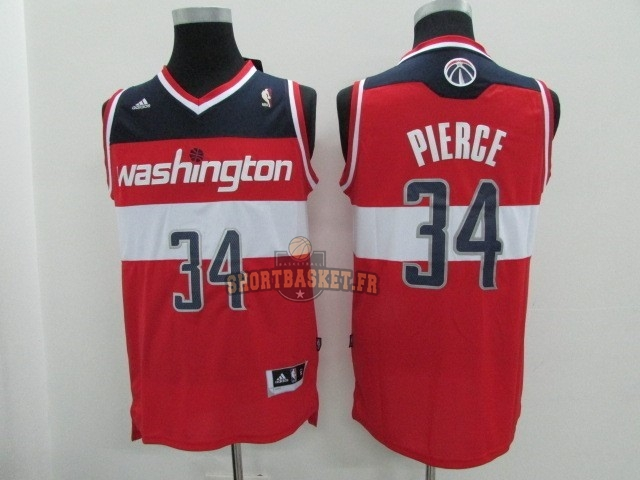 Nouveau Maillot NBA Washington Wizards NO.34 Paul Pierce Rouge pas cher