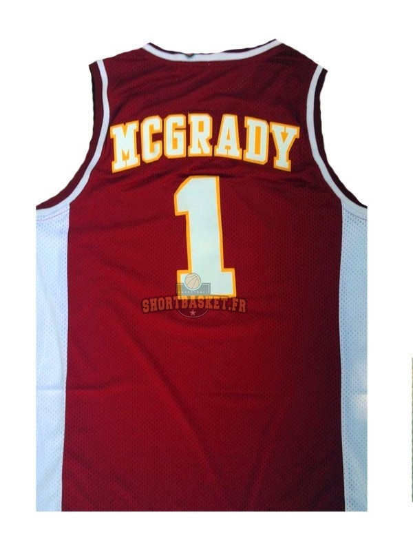 Nouveau Maillot NCAA Mountzion NO.1 Tracy McGrady Rouge pas cher