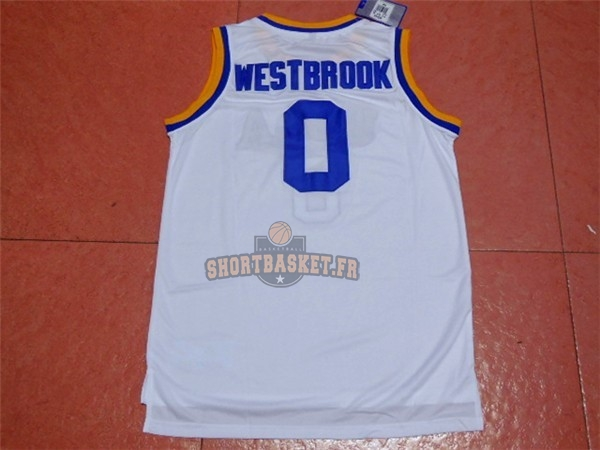 Nouveau Maillot NCAA UCLA NO.0 Russell Westbrook Blanc pas cher