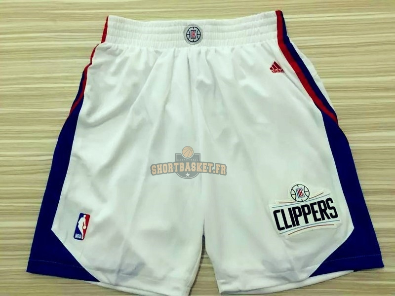 Nouveau Short Basket Los Angeles Clippers Blanc pas cher