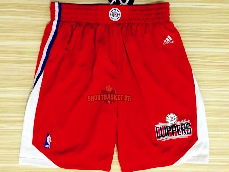 Nouveau Short Basket Los Angeles Clippers Rouge pas cher