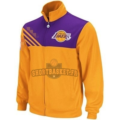 Nouveau Survetement NBA Los Angeles Lakers Jaune Noir pas cher