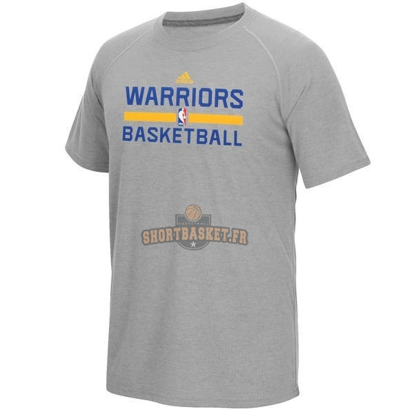 Nouveau T-Shirt Golden State Warriors Gris pas cher